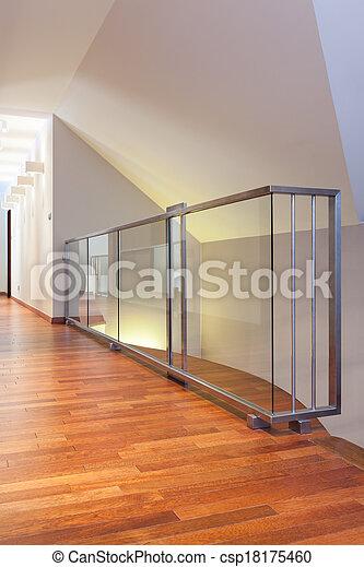 stock foto gro artig design glas treppengel nder. Black Bedroom Furniture Sets. Home Design Ideas