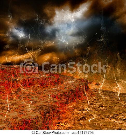 Fantasy landscape - csp18175795