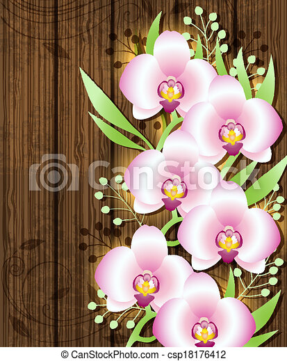 vecteur bois fond rose orchid es banque d 39 illustrations illustrations libres de droits. Black Bedroom Furniture Sets. Home Design Ideas
