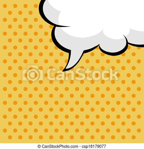 pop art comic speech bubble - csp18179077