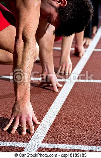 sprinter man - csp18183185