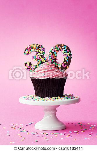 30th birthday cupcake - csp18183411