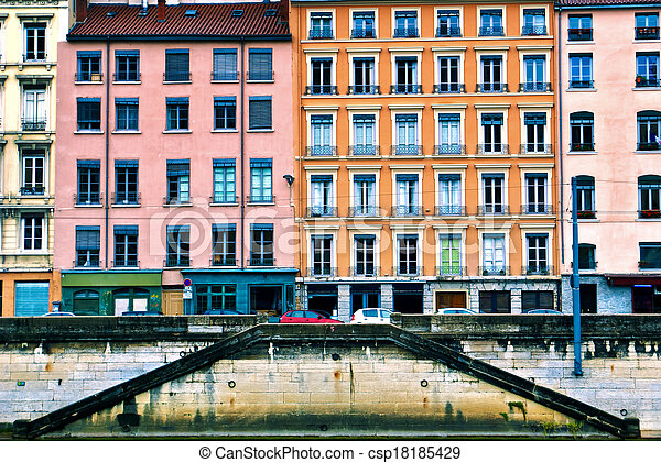 Residential buildings in Lyon, France - csp18185429