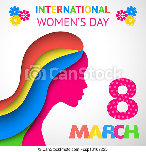 Happy Women's Day greeting or gift card - csp18187225