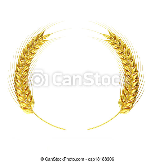 Golden wheat circle - csp18188306