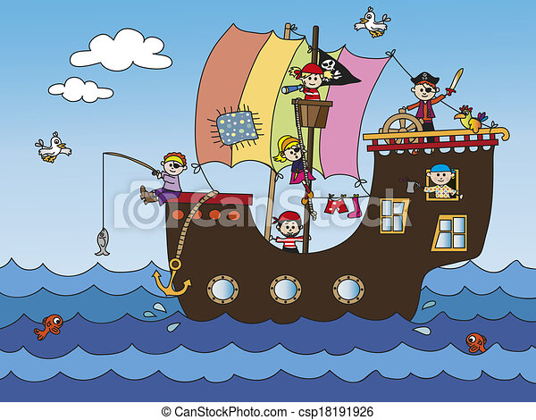 Pirate Ship Stock Images, Royalty-Free Images &amp- Vectors | Shutterstock