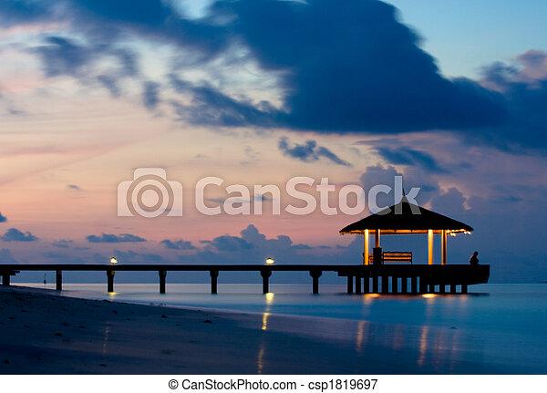Tranquil Ocean in the twilight - csp1819697