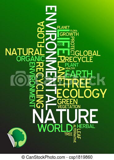 Ecology - environmental poster  - csp1819860