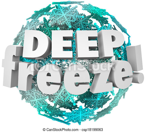 Deep Freeze Winter Weather Blizzard Storm Snowflake Sphere - csp18199063
