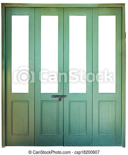 Stock de fotograf a de verde madera puerta acorde n - Puertas acordeon madera ...