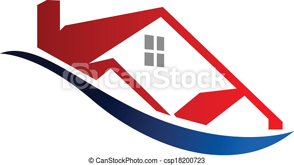 Vector illustration of eco house icon cartoon vector for Modern house clipart