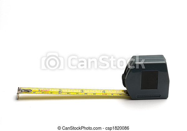 Tape measure with imperial and metric markings. - csp1820086