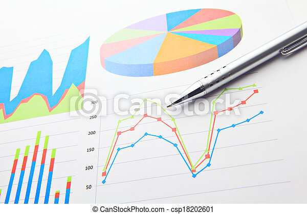 Financial chart and pen - csp18202601