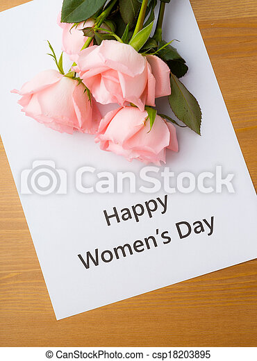 Happy women's day and rose - csp18203895