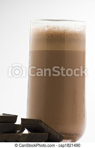 refreshing chocolate shake with chocolate Birutes - csp1821490