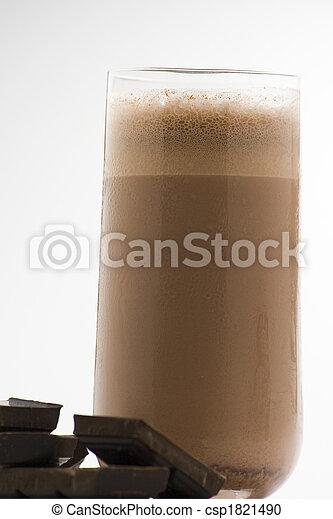 refreshing chocolate shake with chocolate Birutes - csp1821490