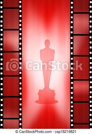 Clip Art of Oscar awards - illustration of Oscar awards ...