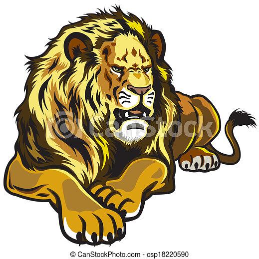 狮子头像矢量图 图片合集