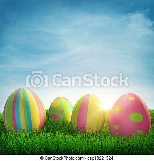 Easter eggs - csp18221524