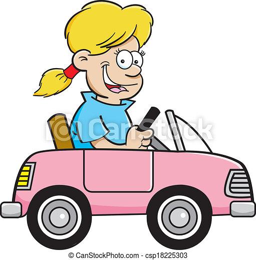 vector clipart of cartoon girl in a toy car cartoon Free Space Clip Art Spaceship Free Clipartdownlaod