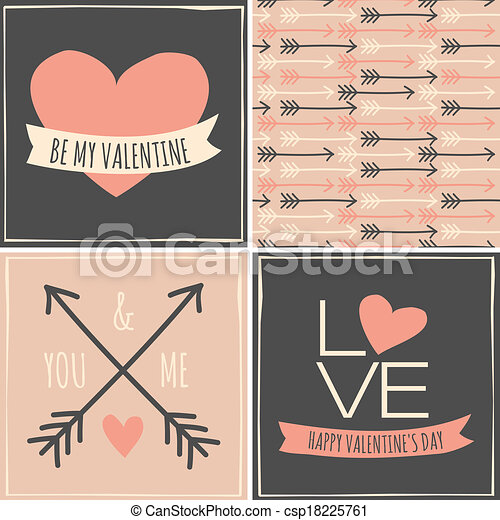 Valentine's Day Cards Collection - csp18225761