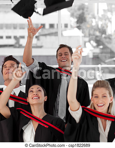 Group of people Graduating from College - csp1822689