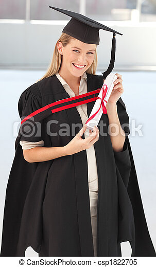 Woman smiling at her graduation  - csp1822705