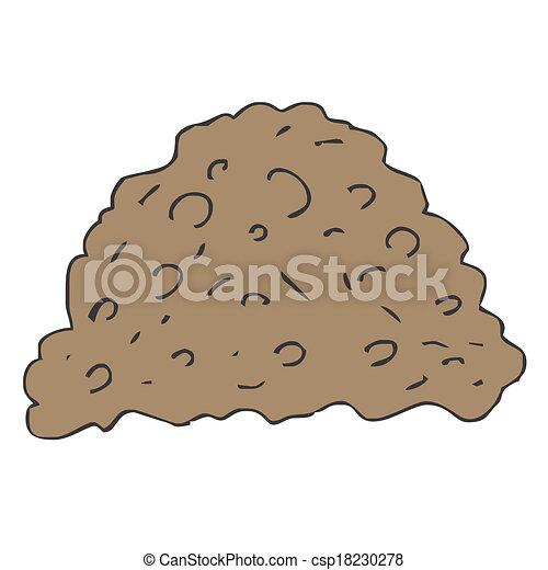 Vectors Illustration of pile dirt of soil land on white background ...
