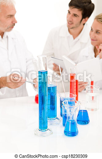Team of scientists in laboratory - medical research