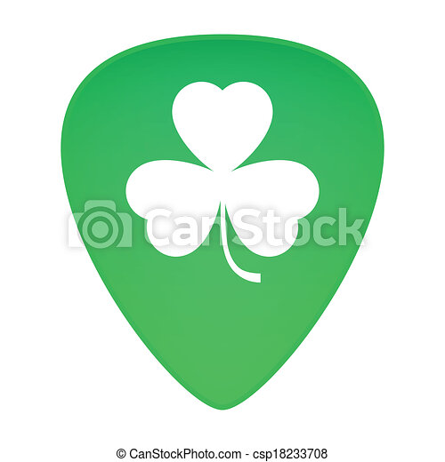 Guitar Pick Drawing Guitar Pick With Clover Icon
