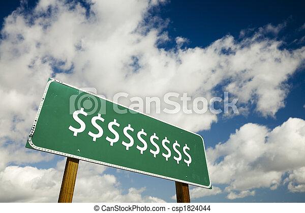サイン, ドル, 道, 印 - csp1824044