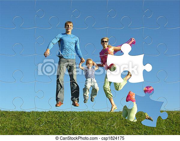 fly happy family puzzle - csp1824175