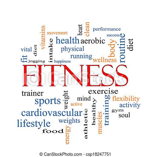 begrepp, ord, moln, fitness - csp18247751