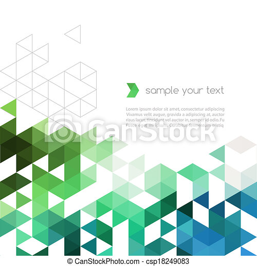 Abstract technology background with color triangle shapes - csp18249083