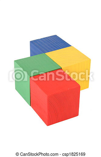wood toy cubes - csp1825169