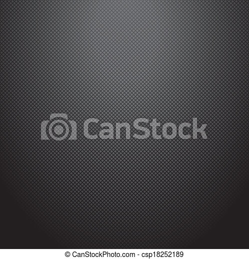 Realistic dark carbon background, texture. Vector illustration - csp18252189