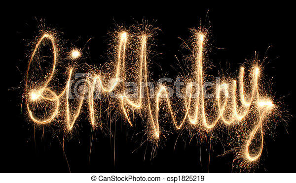birthday sparkler (you can see other words in my portfolio) - csp1825219