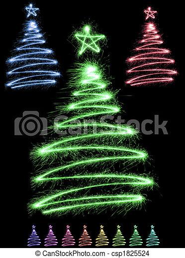 multicolor sparkler trees - csp1825524