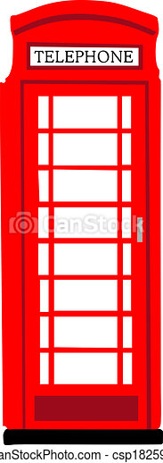 Vector Clipart of British phonebooth - Red British phonebooth ...