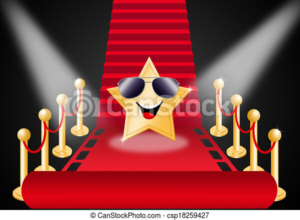 Clip Art of Star on Red carpet for Oscars award csp18259427 ...