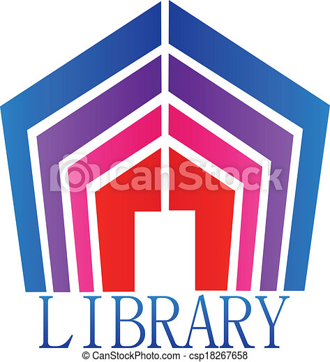 Clipart Vector of Library books logo - Library books icon ...