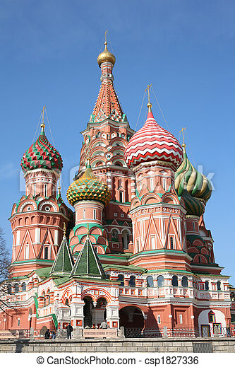 st. basil cathedral moscow - csp1827336