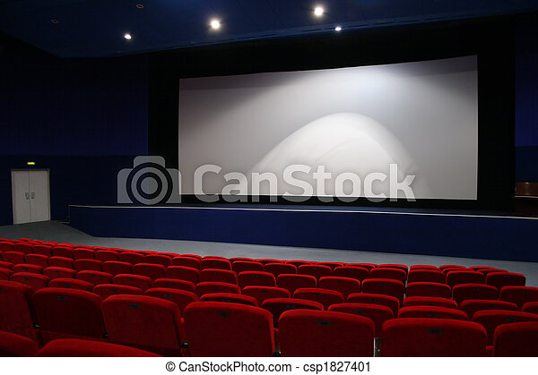 cinema interior 3 - csp1827401
