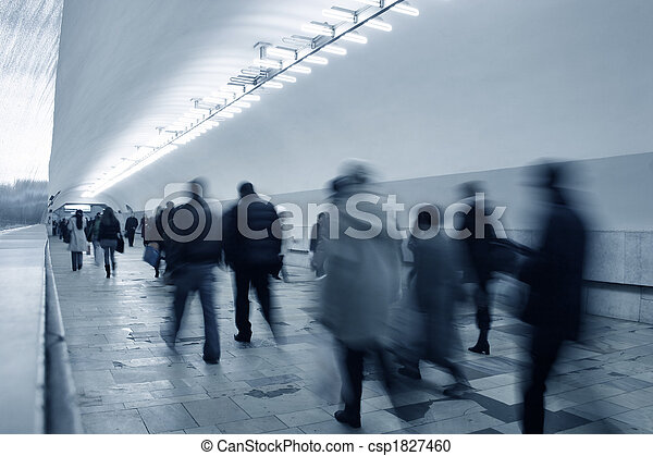 subway crowd - csp1827460