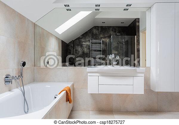 Bright design bathroom furniture - csp18275727