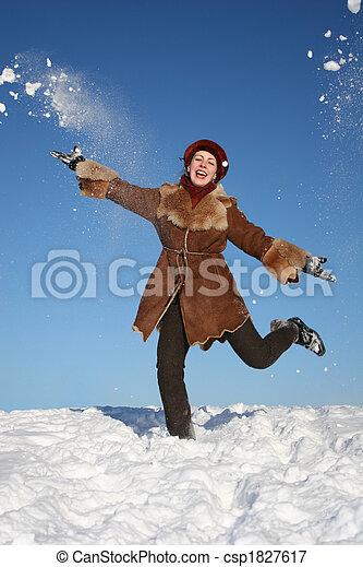 winter happy girl 2
