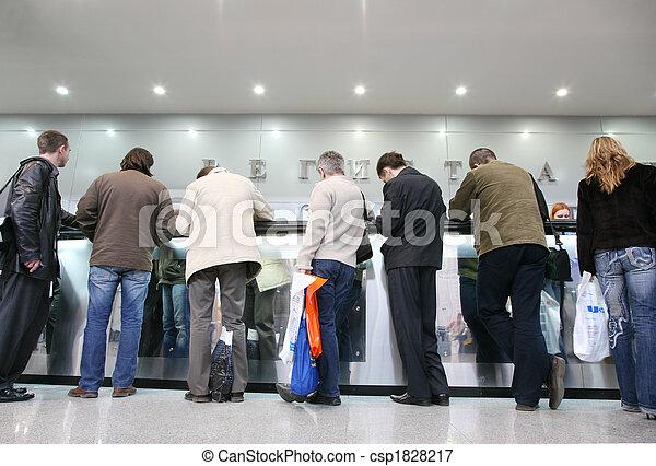 crowd on registration - csp1828217