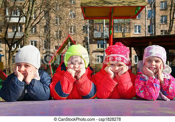 bored team in kindergarten - csp1828278