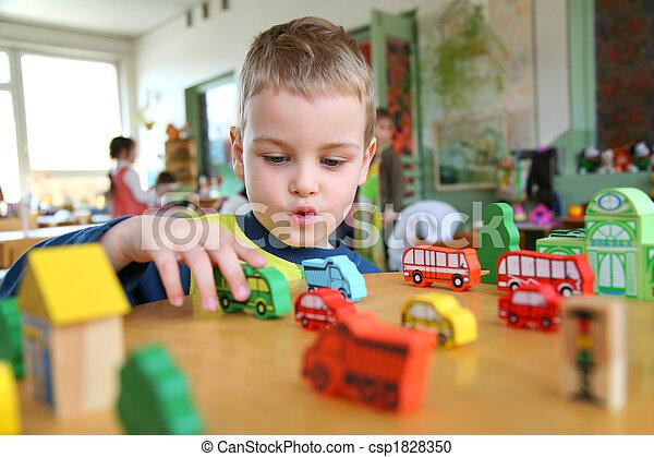 child in kindergarten - csp1828350