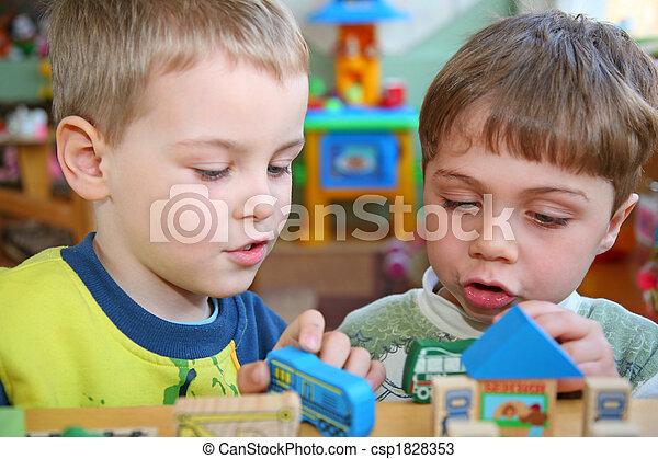 children in kindergarten - csp1828353